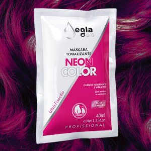 Máscara Neon Color 40ml - Rosa Turmalina