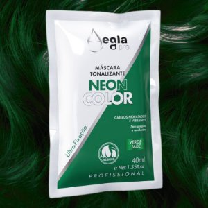 Máscara Neon Color 40ml - Verde Jade