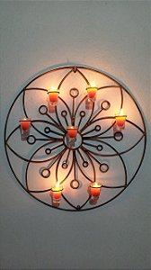Mandala Em Ferro Redonda Para Decoração