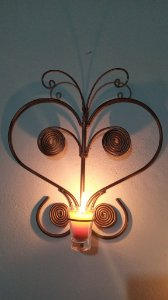 Suporte Borboleta para vela de Parede artesanal em ferro decorativos