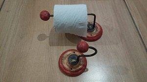 Conjunto Banheiro Artesanal Suporte Porta Papel Higiênico