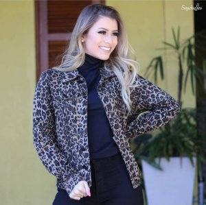 JAQUETA SARJA ANIMAL PRINT