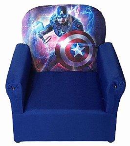 Mini Sofa Infantil Capitão America