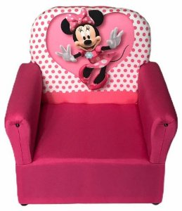 Mini Sofa Infantil Minnie Rosa