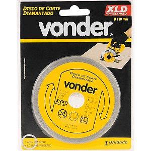 Disco de Corte Diamantado para Porcelanato 110mm - Vonder