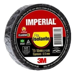 Fita Isolante Imperial® Branca, 18 mm x 10 m - 3M