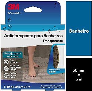 Fita Antiderrapante para Banheiros Transparente - 3M