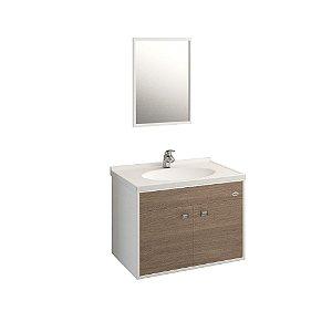 Gabinete para Banheiro Allure 41x56cm Nogueira - Policlass