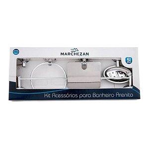 Kit Acessórios Para Banheiro Arenito - Marchezan