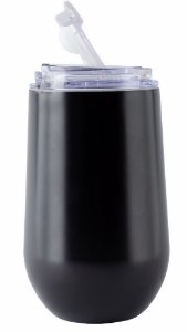 Copo Térmico Hermético Mokha Belli All Black 450ml