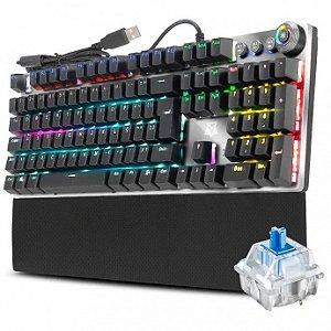 Teclado Mecânico Gamer Karambit Macro Rgb Adamantiun Switch Azul - AK-2000