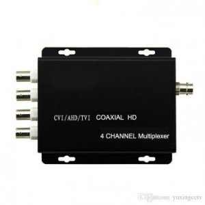 Multiplexador CFTV 4 Canais de Vídeo em Coaxial AHD Transmissor e Receptor - 02965