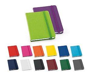 Bloco de anotações capa dura couro sintetico tipo moleskine 80 folhas  lote de 100 peças