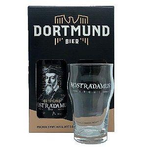 Kit Cerveja Dortmund 600ml Nostradamus Com Copo