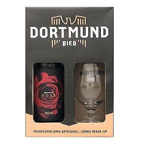 Kit Cerveja Dortmund 600ml Com Copo Red Rose