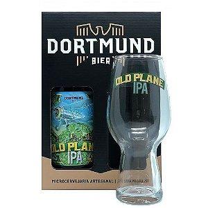 Kit Cerveja Dortmund 600ml Com Copo Old Plane Ipa