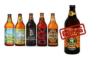 Combo 1 Ipa + 1 Pale Ale + 1 Stout + 1 Red Ale + 2 Pilsen