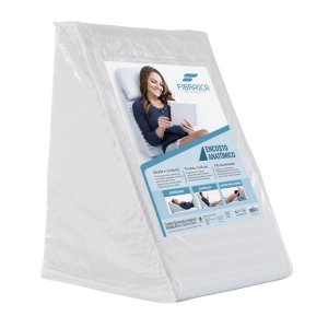 Travesseiro Encosto Anatômico Suave Conforto 43X34X50 Fibrasca