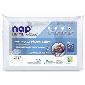 Travesseiro Nasa Nap Home Standard Perfil Medio 48X69X16 Cm