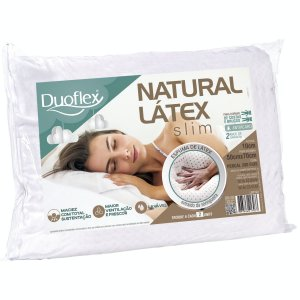 Travesseiro Natural Látex Slim Perfil Baixo 50X70X10 Duoflex