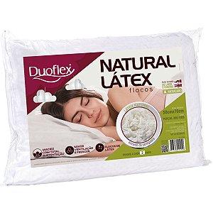 Travesseiro Natural Látex em Flocos 50x70x16cm Duoflex