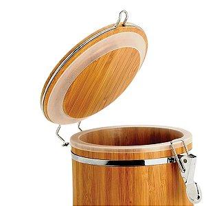 Pote Para Mantimentos Em Bambu 100% natural Dubai - 1,4 L