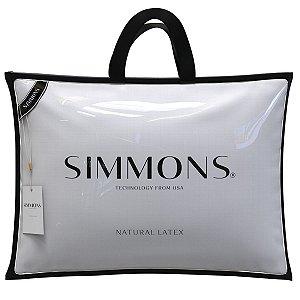Travesseiro Natural Látex Luxo 50x70x16cm Simmons
