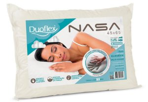 Kit 2 Travesseiro Nasa Original Malha 45x65x14 Duoflex