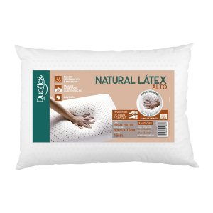 Travesseiro Alto natural Latex 50x70x16cm Duoflex