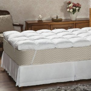 Pillow Top Queen 233 Fios 160x200x7 Fibra siliconada Plumasul