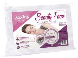 Travesseiro anti rugas Beauty Face 50c50x14cm Duoflex