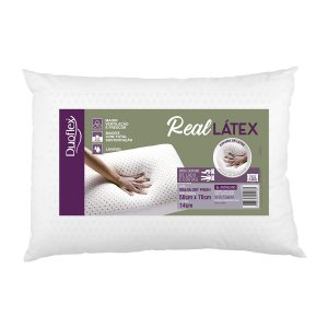 Kit 2 travesseiro Real latex 50 x 70 x 14cm Duoflex