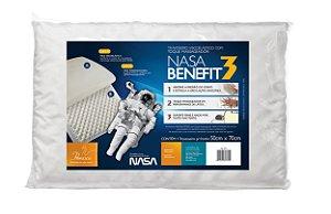 Travesseiro Nasa Benefit 3 P/Fronhas 50X70 - Fibrasca