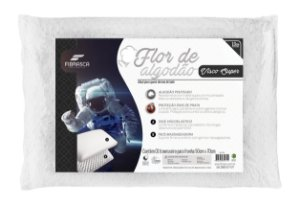 Travesseiro Nasa Flor De Algodão + Íons 50X70Cm -Fibrasca