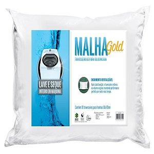 Travesseiro Malha Gold Lavável - P/Fronhas 50X70 - Fibrasca