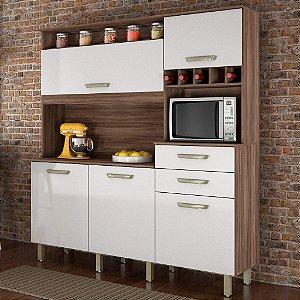 Armário de Cozinha 5 Portas 2 Gavetas Smart Nesher Móveis
