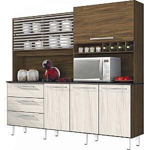 Armário de Cozinha 6 Portas 3 Gavetas Mega Espresso Móveis