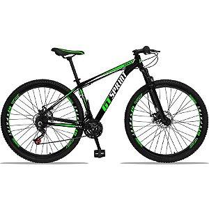 Bicicleta MX1 Aro 29 Quadro Alumínio Suspensão 21 Marchas Freio a Disco Mecânico - GT Sprint