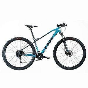 Bicicleta Stamina Importada Aro 29 Suspensão Freio a Disco Quadro 19 Alumínio Cinza/Azul - TSW