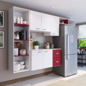Cozinha Compacta 4 Peças 5 Portas Anabela Yescasa