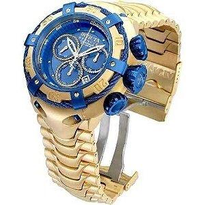 Relógio Invicta Bolt 21361 Dourado / Azul