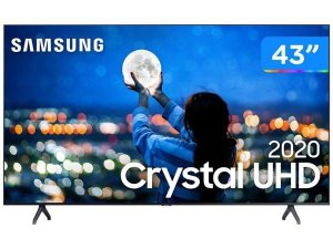 "Smart TV Crystal UHD 4K LED 43"" Samsung - 43TU7000 Wi-Fi Bluetooth HDR 2 HDMI 1 USB"