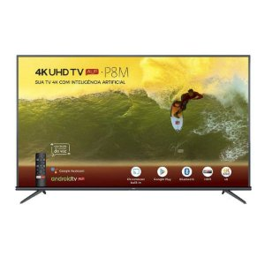 Smart TV LED 50'' TCL 4K, 3 HDMI, 2 USB, com Wi-Fi - 50P8M