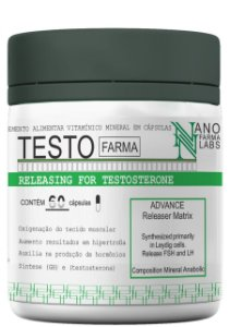 Testo Pré Hormonal 2800mg Releasing Gh - 60 Cápsulas