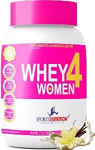 Whey Protein 4 Women com Colágeno - A melhor Whey feminina do Mercado - 908g