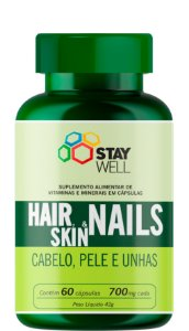 Cabelo, Pele e Unha - Hair, Skin e Nails 700mg - 60 Cápsulas