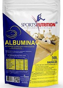 Albumina Zero Lactose E Açúcar - 18g de Proteína por dose - 500g