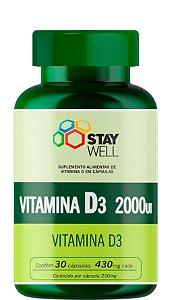 Vitamina D3 2000UI - 30 Cápsulas