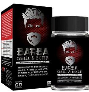 Barba, Cabelo & Bigode - Crescimento e Fortalecimento - O Mais Completo - SN Premium - 60 Cápsulas