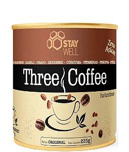 Café Termogênico Three Coffee - 15 Ingredientes Incrivéis - 162mg de Cafeína por dose - 225g